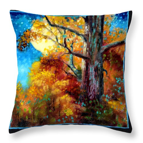Fall Throw Pillow featuring the painting Planets Image Six by John Lautermilch
