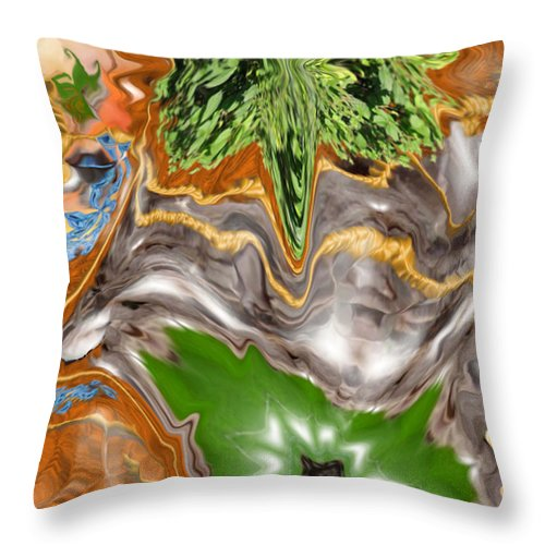 Plankton Throw Pillow featuring the digital art Plankton Soup by Stephanie H Johnson