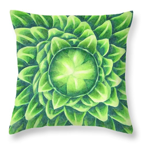 Plant Throw Pillow featuring the painting Plant Design by Thacia Langham
