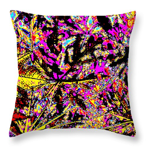 Square Throw Pillow featuring the digital art Plant Life by Eikoni Images