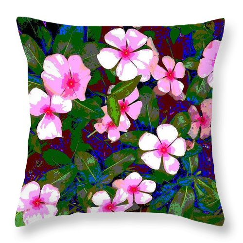 Square Throw Pillow featuring the digital art Plant Power 1 by Eikoni Images