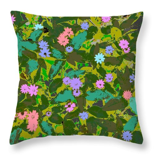 Square Throw Pillow featuring the digital art Plant Power 2 by Eikoni Images