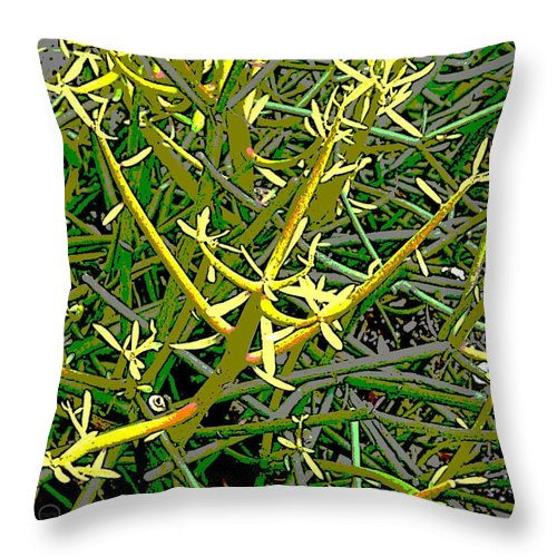 Square Throw Pillow featuring the digital art Plant Power 5 by Eikoni Images