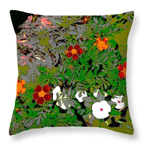 Square Throw Pillow featuring the digital art Plant Power 7 by Eikoni Images