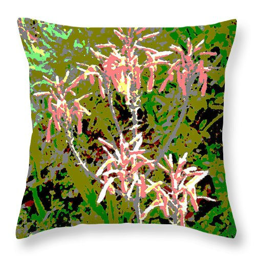 Square Throw Pillow featuring the digital art Plant Power 8 by Eikoni Images