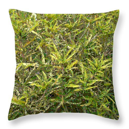 Square Throw Pillow featuring the digital art Plant Power 9 by Eikoni Images