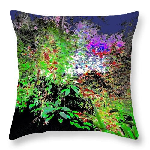 Square Throw Pillow featuring the digital art Plant Souls by Eikoni Images
