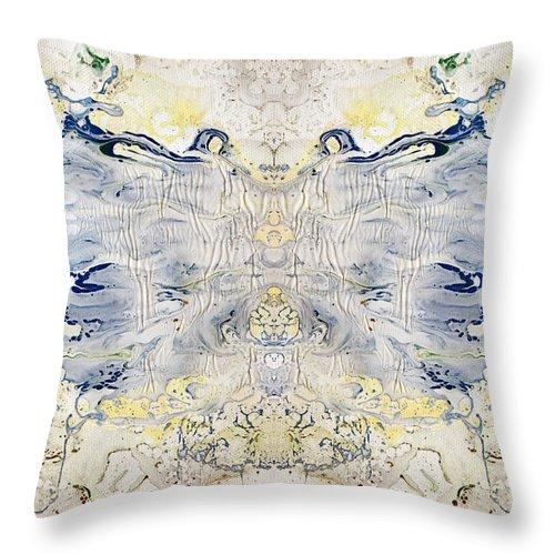 Fluid Throw Pillow featuring the digital art Plastic Fly by Sumit Mehndiratta