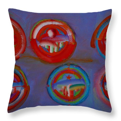 Logo Throw Pillow featuring the painting Plate State by Charles Stuart