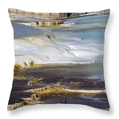 Chad Davis Throw Pillow featuring the photograph Plateau Of Colors by Chad Davis