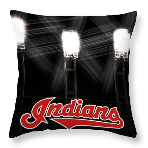 Cleveland Throw Pillow featuring the photograph Play Ball by Kenneth Krolikowski