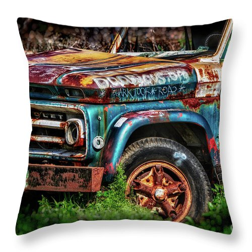 Chevrolet Throw Pillow featuring the photograph Play Nice by Doug Sturgess