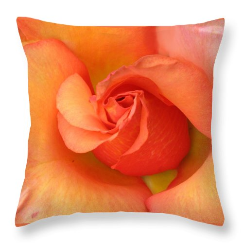 Orange Throw Pillow featuring the photograph Playful by Carol Sweetwood