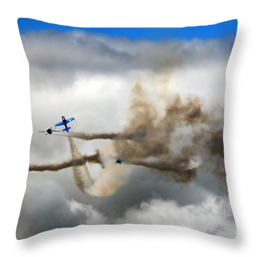 Blades Extra 300 Throw Pillow featuring the photograph Playing Beneath The Clouds by Angel Ciesniarska