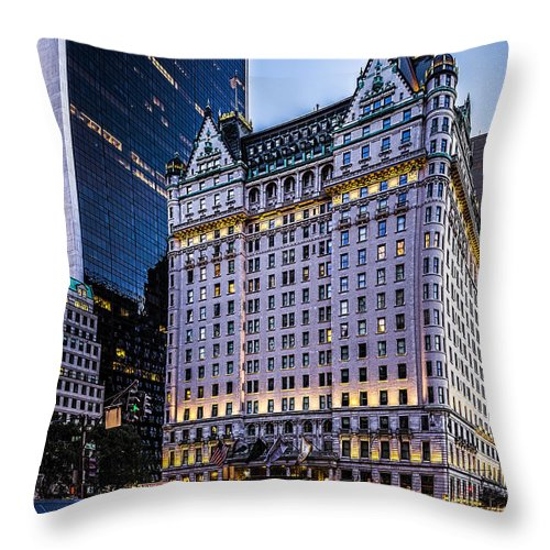 Architecture Throw Pillow featuring the photograph Plaza Hotel by Kenneth Grant
