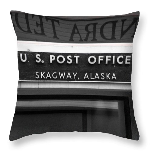 Throw Pillow featuring the photograph P O Skagway by Kevin Mcenerney