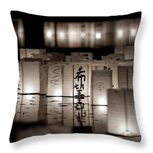 Lanterns Throw Pillow featuring the photograph Poetry In Motion by Greg Fortier