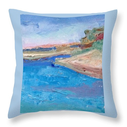 Palette Knife Painting Throw Pillow featuring the painting Point San Pablo by Suzanne Cerny