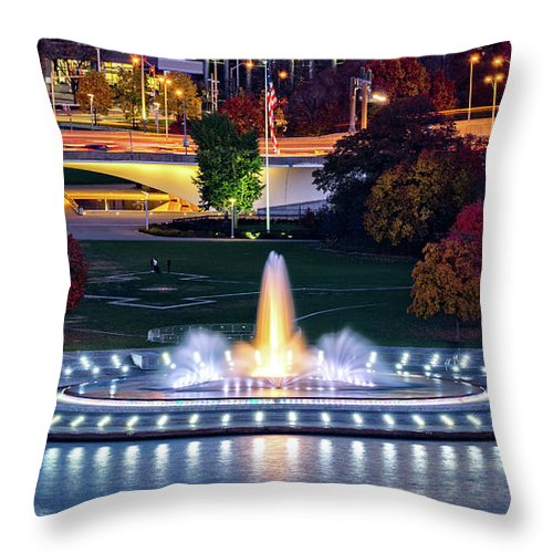 The Point Throw Pillow featuring the photograph Point State Park by Mihai Andritoiu