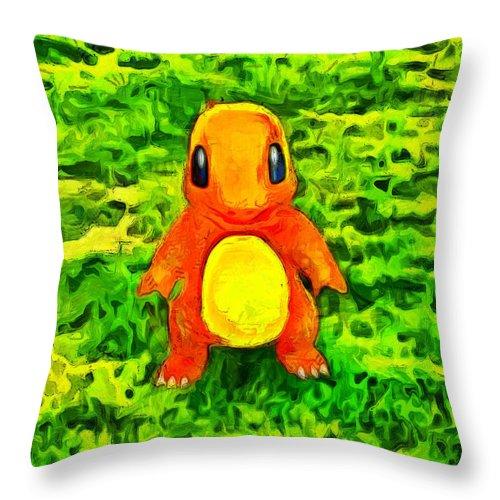 Pokemon Throw Pillow Cases - Charmander