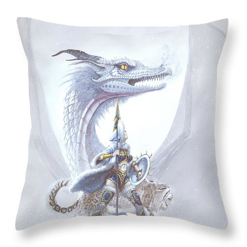 Dragon Throw Pillow featuring the painting Polar Princess by Stanley Morrison