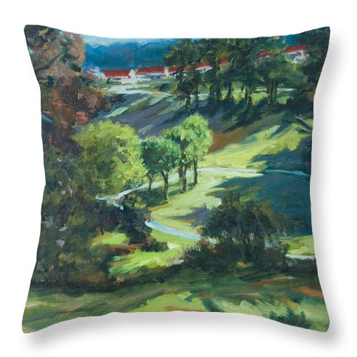 Park Throw Pillow featuring the painting Polin Springs by Rick Nederlof