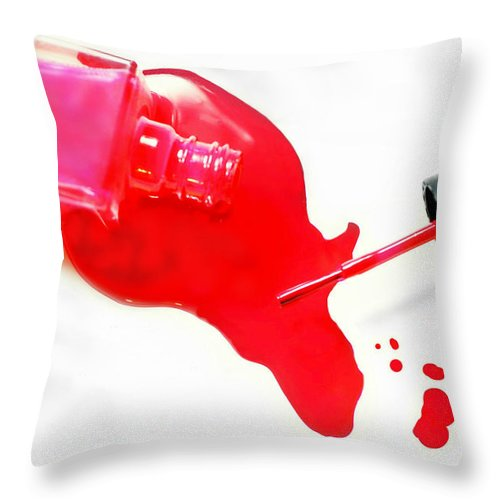 Nail Polish Throw Pillow featuring the photograph Polished by Diana Angstadt