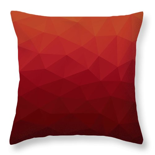 Abstract Throw Pillow featuring the digital art Polygon by Mike Taylor