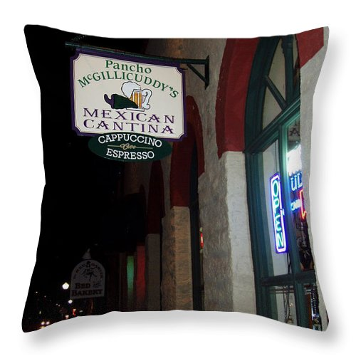 Restaurant Throw Pillow featuring the photograph Poncho Mcgillicuddys by Wayne Potrafka