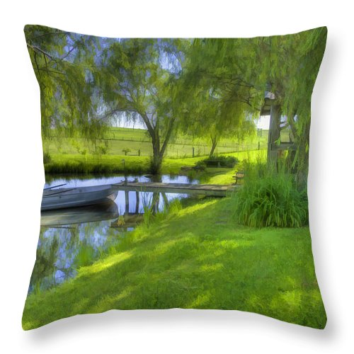 Pond Throw Pillow featuring the photograph Pond Dreams 2 by Sam Davis Johnson