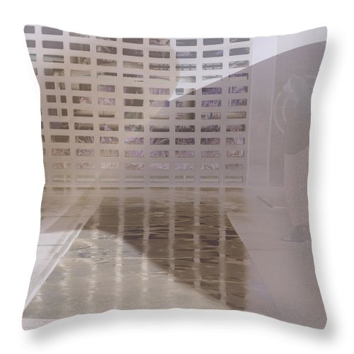 Pondering Throw Pillow featuring the photograph Pondering by Kerryn Madsen-Pietsch