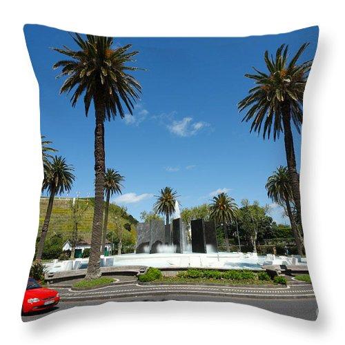 Roundabout Throw Pillow featuring the photograph Ponta Delgada by Gaspar Avila