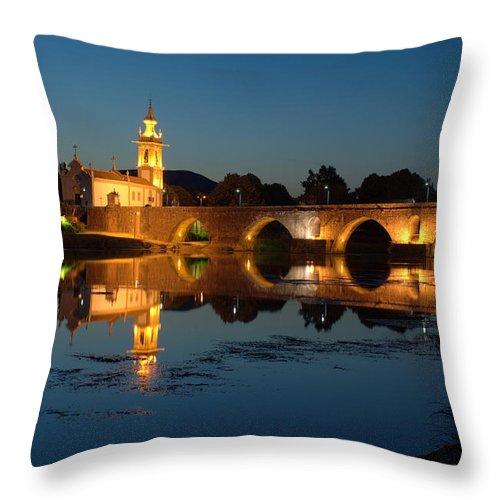 Ancient Throw Pillow featuring the photograph Ponte De Lima by Jose Ferreira