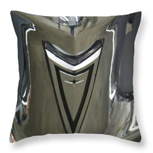 Pontiac Throw Pillow featuring the photograph Pontiac Chrome by Kelly Mezzapelle