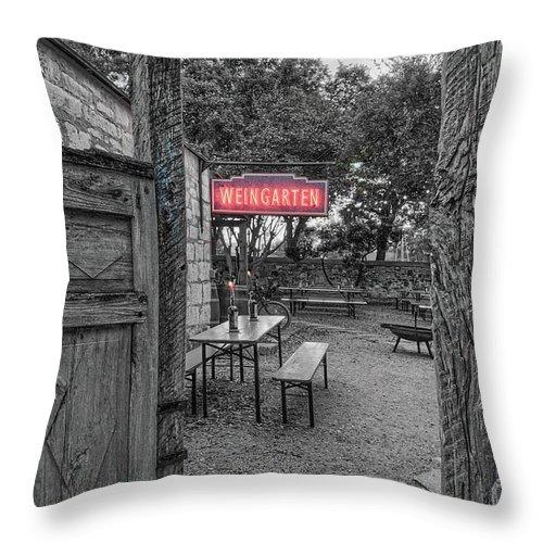 Throw Pillow featuring the photograph Pontotoc Vineyard Weingarten_8 by Sam Stanton