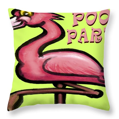 Pool Throw Pillow featuring the greeting card Pool Party by Kevin Middleton