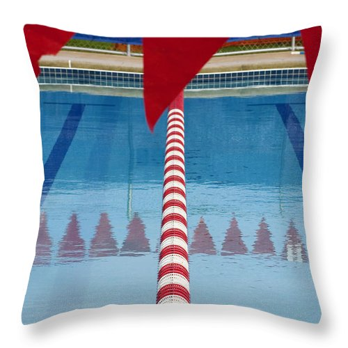 Flag Throw Pillow featuring the photograph Pool by Skip Hunt
