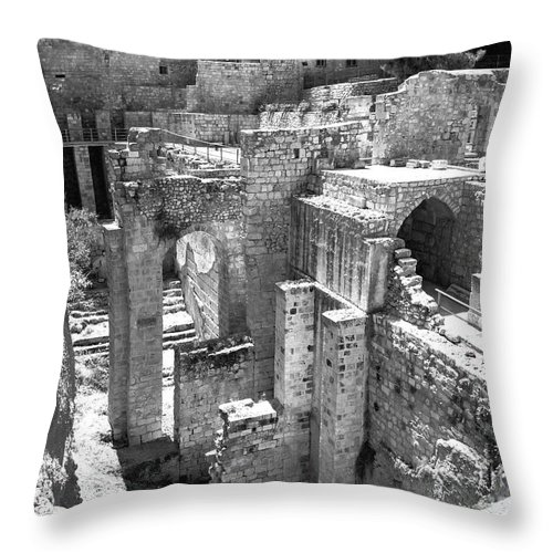 Pools Of Bethesda Throw Pillow featuring the photograph Pools Of Bethesda by Mae Wertz