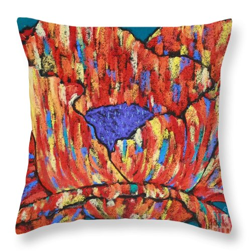 Poppy Throw Pillow featuring the painting Poppy2 by Melinda Etzold