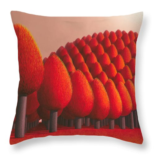 Tree Throw Pillow featuring the painting Populus Flucta by Patricia Van Lubeck