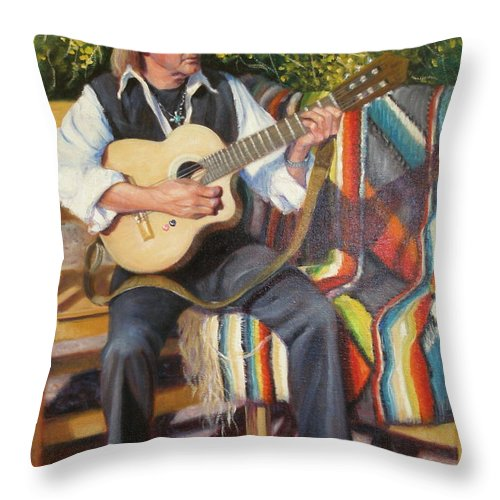 Realism Throw Pillow featuring the painting Por Tu Amor by Donelli DiMaria