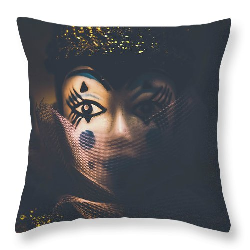 Carnival Throw Pillow featuring the photograph Porcelain Doll. Performing Arts Event by Jorgo Photography - Wall Art Gallery