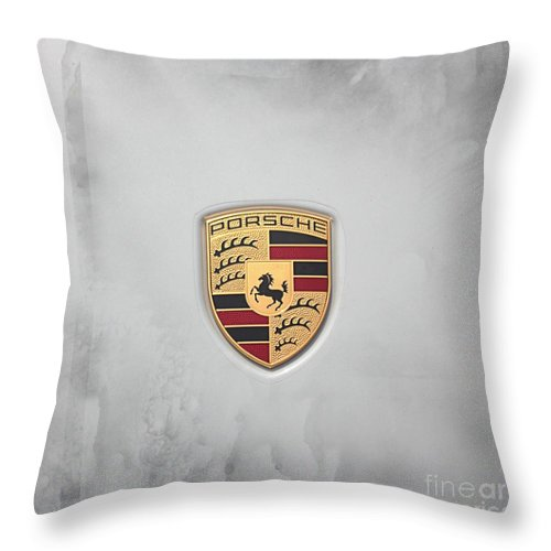 Photography Throw Pillow featuring the photograph Porsche by Ella Kaye Dickey