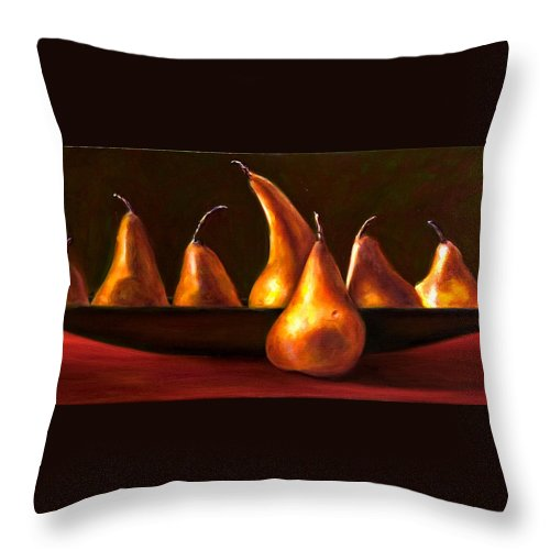 Still Life Throw Pillow featuring the painting Port Au Pear by Shannon Grissom