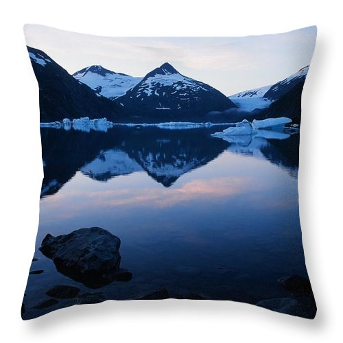 Portage Lake Throw Pillow featuring the photograph Portage Lake by Ronnie Glover