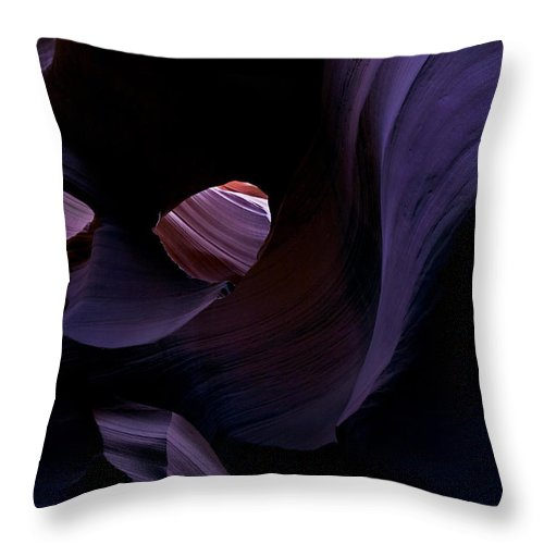 Desert Throw Pillow featuring the photograph Portal by Mike Dawson