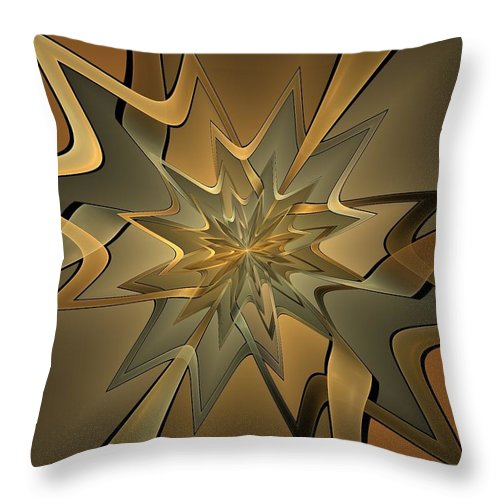 Fractal Throw Pillow featuring the digital art Portal Of Stars by Amorina Ashton