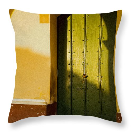 Caribbean Throw Pillow featuring the photograph Porte Verte by Pierre Logwin