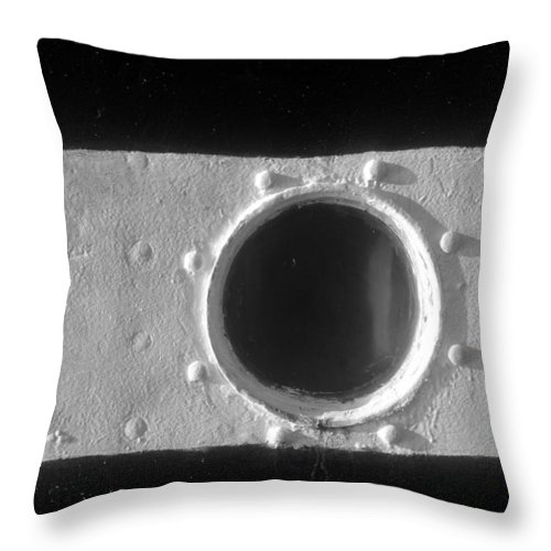 Porthole Throw Pillow featuring the photograph Porthole by David Lee Thompson