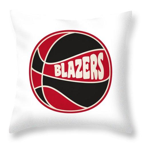 Portland Blazers Radio: Portland Trail Blazers Retro Shirt Throw Pillow For Sale